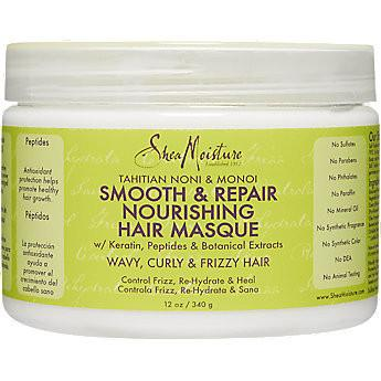 SheaMoisture Tahitian Noni & Monoi Smooth & Repair Nourishing Hair Masque 340g - Black Beautique