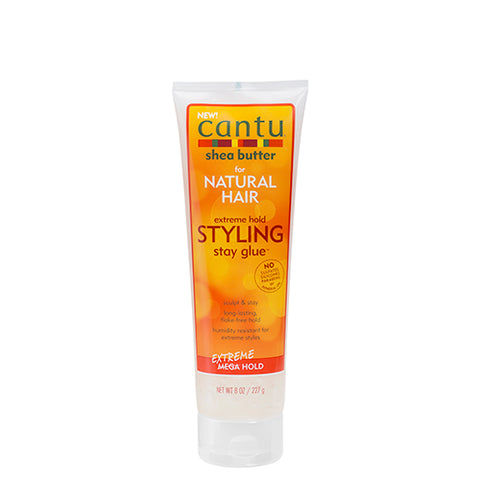 Cantu - Extreme Hold Styling Stay Glue 227g - Black Beautique