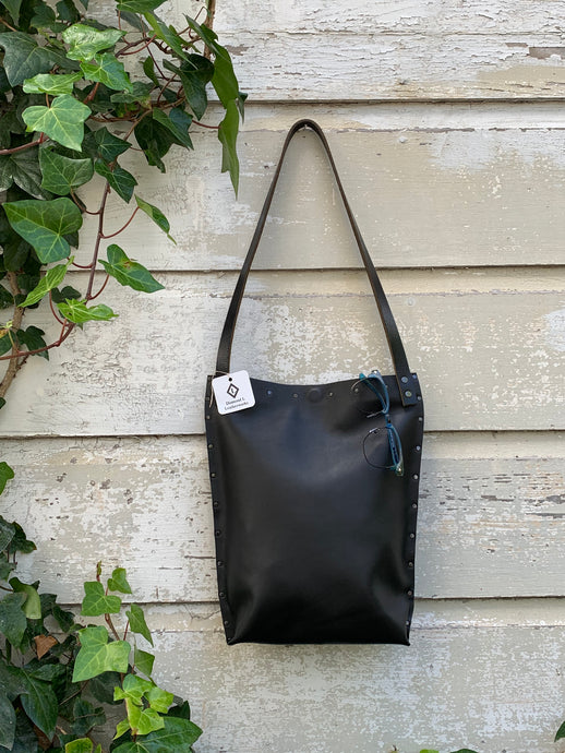 Solid Black Urban Tote