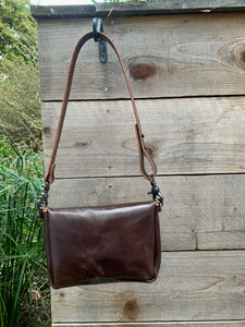 Glossy Brown Urban Hip Bag