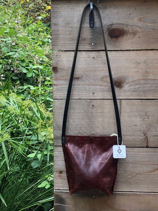 Burgundy Urban Crossbody, Medium
