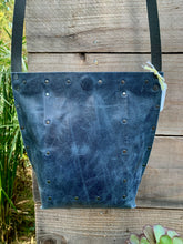 Load image into Gallery viewer, Distressed Blue Urban Crossbody, Medium