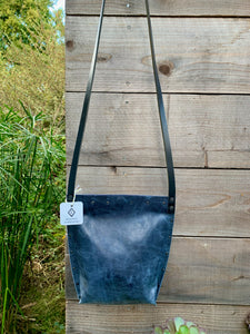 Distressed Blue Urban Crossbody, Medium