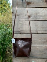 Load image into Gallery viewer, Glossy Brown Urban Crossbody, Mediun
