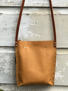 Tan Urban Crossbody, Medium