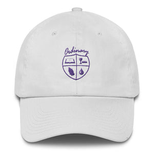 Ladies' White cap with symbols of the Bible, The Lord's Supper, Prayer, and Baptism (Ordinary means of grace)