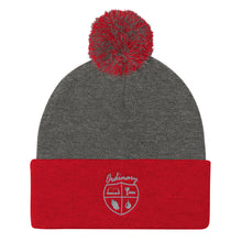 Load image into Gallery viewer, Ordinary means of grace reformed knit cap red and gray