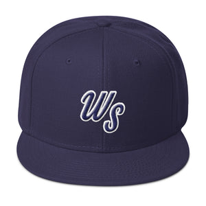 """WS"" navy blue baseball cap"