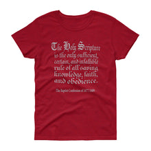 Load image into Gallery viewer, Only Rule of Faith t-shirt from The Baptist Confession of 1689