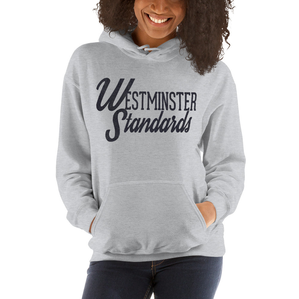 """Westminster Standards"" grey hoodie"