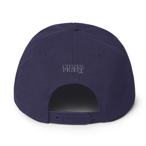 "back view of ""WS"" navy blue baseball cap"