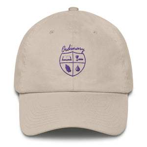 Ladies' Stone cap with symbols of the Bible, The Lord's Supper, Prayer, and Baptism (Ordinary means of grace)