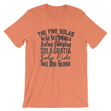 Load image into Gallery viewer, Five Solas t-shirt orange mens