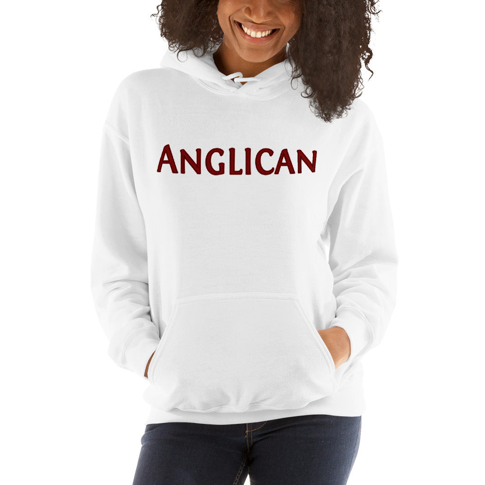Anglican white hoodie