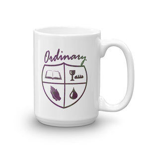 Ordinary means of grace reformed 15 oz mug white