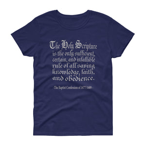 Only Rule of Faith t-shirt from The Baptist Confession of 1689