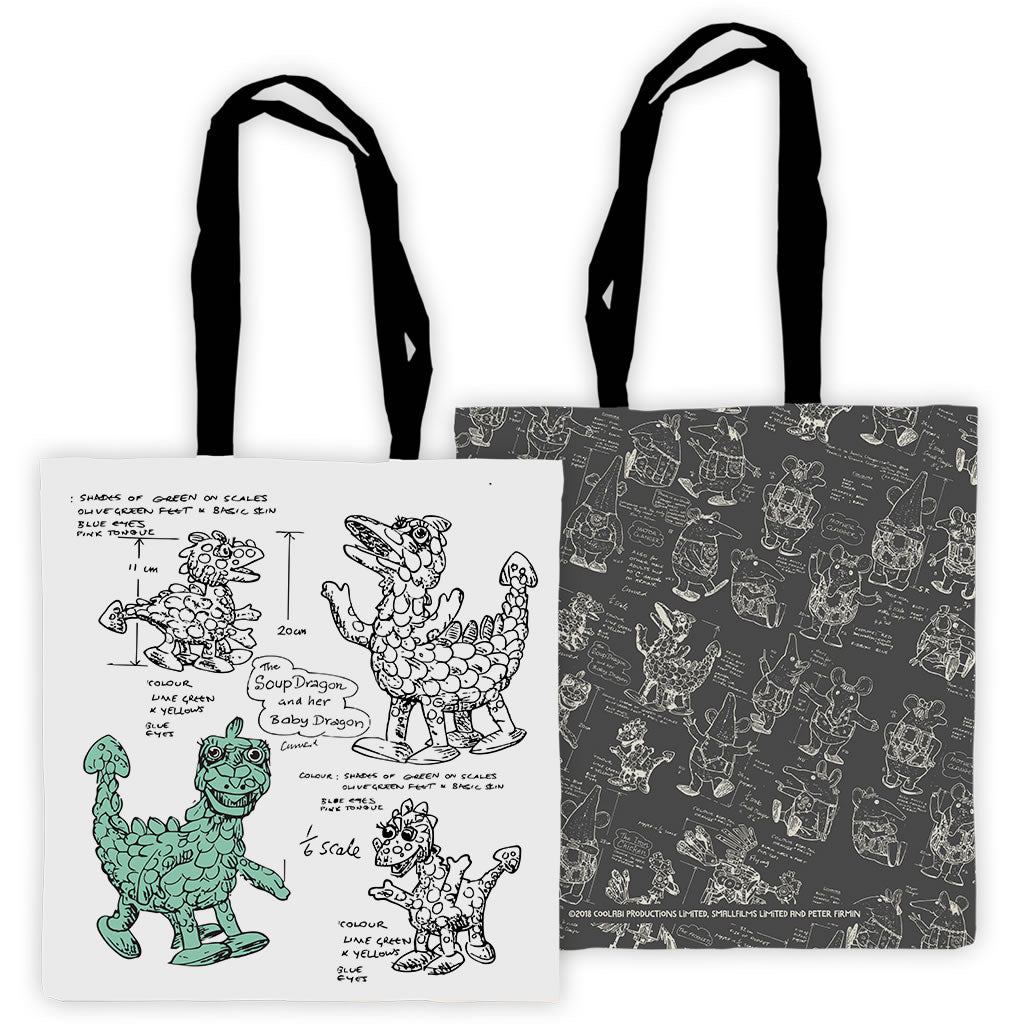 Clangers Edge To Edge Tote Bag