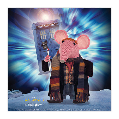 DoppelClangers Square Art Print - Fourth Doctor