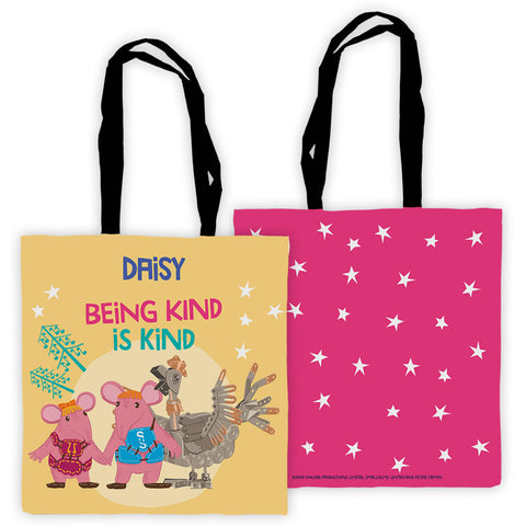 Being Kind Clangers Personalised Edge to Edge Tote Bag