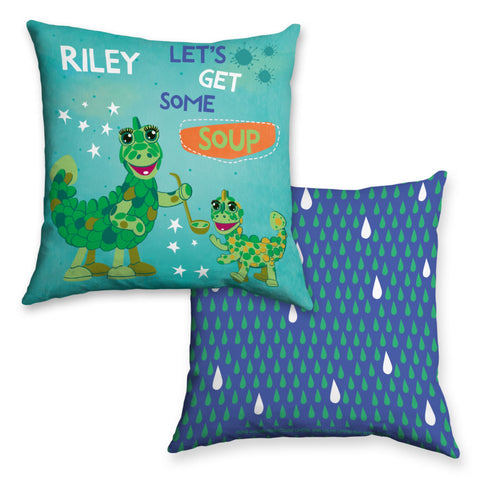 Get Some Soup Clangers Personalised Cushion