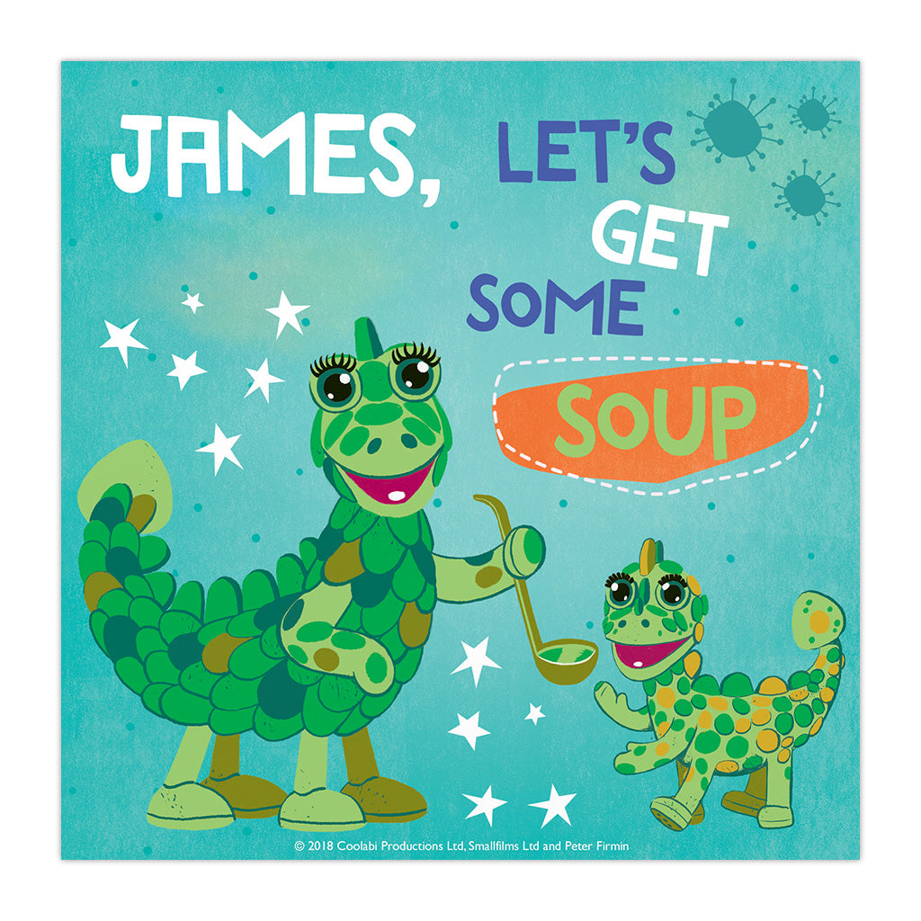 Get Some Soup Clangers Personalised Square Art Print