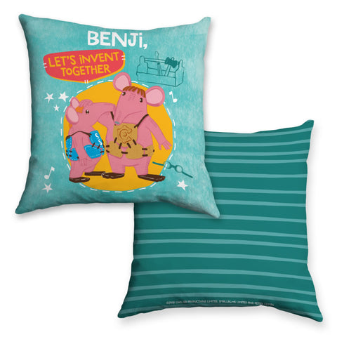 Let's Invent Clangers Personalised Cushion