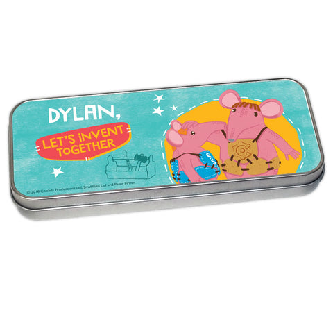 Let's Invent Clangers Personalised Pencil Tin