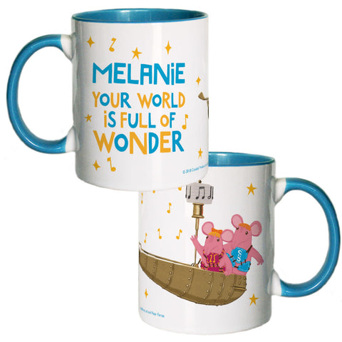 Full Of Wonder Clangers Personalised Coloured Insert Mug