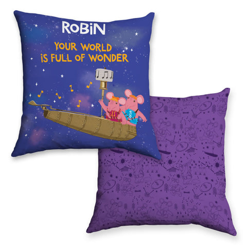 Full Of Wonder Clangers Personalised Cushion