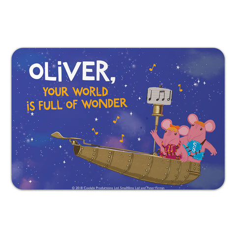 Full Of Wonder Clangers Personalised Door Plaque