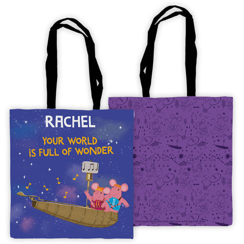 Full Of Wonder Clangers Personalised Edge to Edge Tote Bag