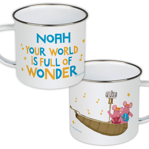 Full Of Wonder Clangers Personalised Enamel Mug