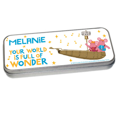 Full Of Wonder Clangers Personalised Pencil Tin