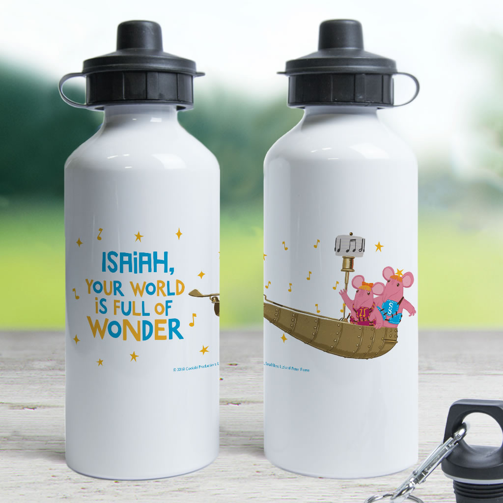 Full Of Wonder Clangers Personalised Water Bottle (Lifestyle)