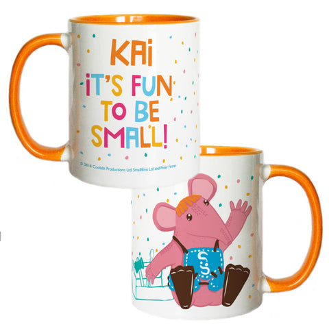 Fun to be Small Clangers Personalised Coloured Insert Mug