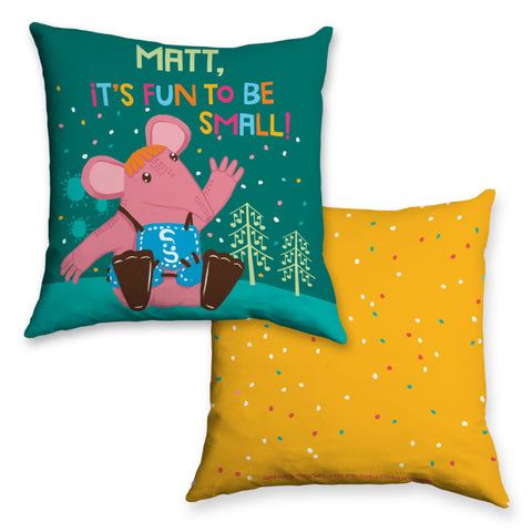 Fun to be Small Clangers Personalised Cushion
