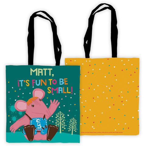 Fun to be Small Clangers Personalised Edge to Edge Tote Bag