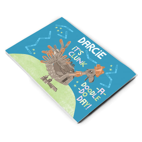 Clunk A Doodle Clangers Personalised A5 Note Pad