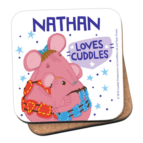 Cuddles Clangers Personalised Coaster