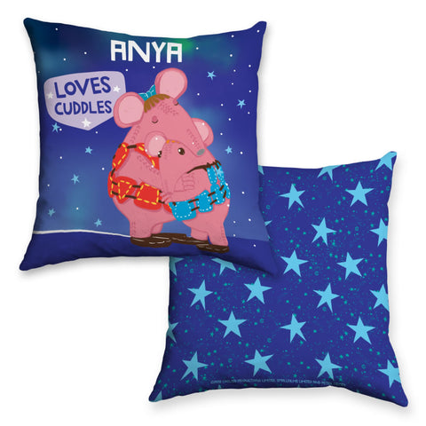 Cuddles Clangers Personalised Cushion