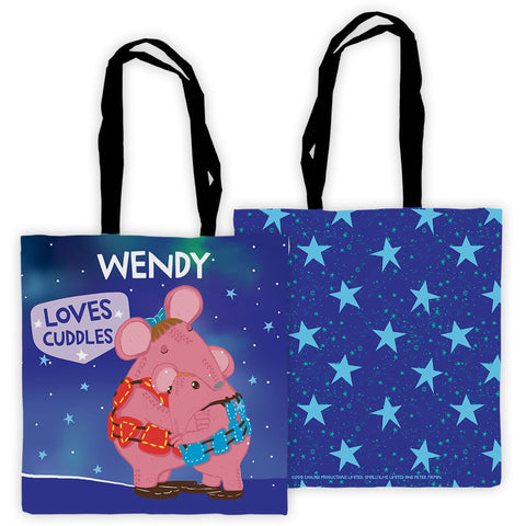 Cuddles Clangers Personalised Edge to Edge Tote Bag