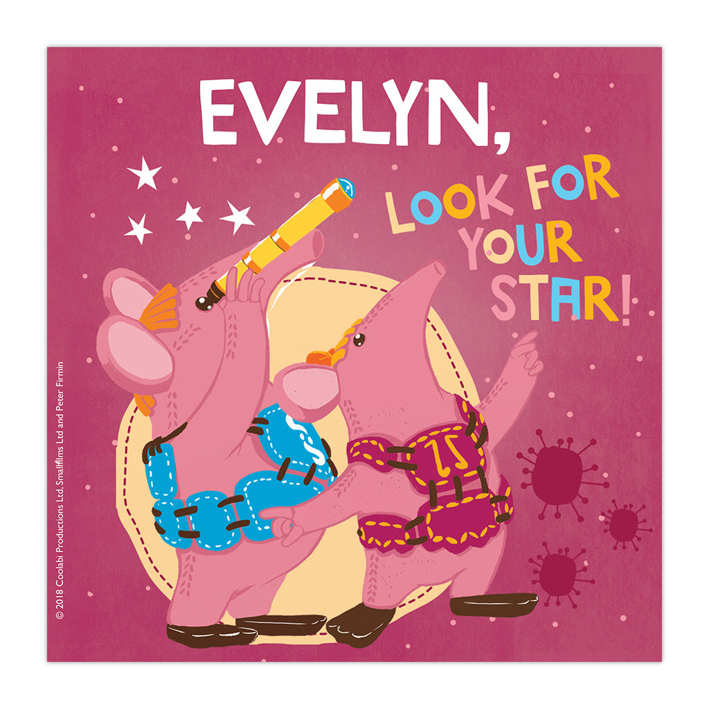 Your Star Clangers Personalised Square Art Print