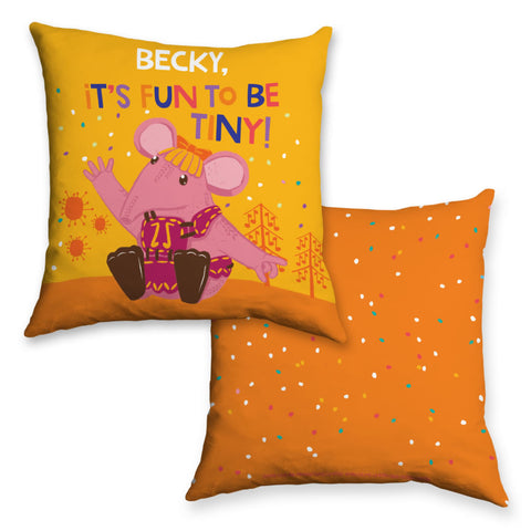 Fun to be Tiny Clangers Personalised Cushion