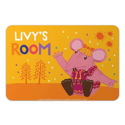 Fun to be Tiny Clangers Personalised Door Plaque