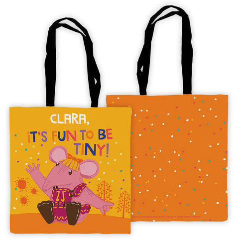 Fun to be Tiny Clangers Personalised Edge to Edge Tote Bag