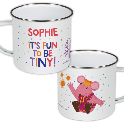 Fun to be Tiny Clangers Personalised Enamel Mug