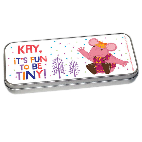 Fun to be Tiny Clangers Personalised Pencil Tin
