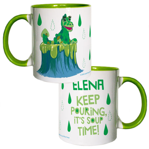 Send in the Soup Clangers Personalised Coloured Insert Mug