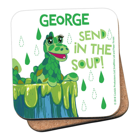 Send in the Soup Clangers Personalised Coaster