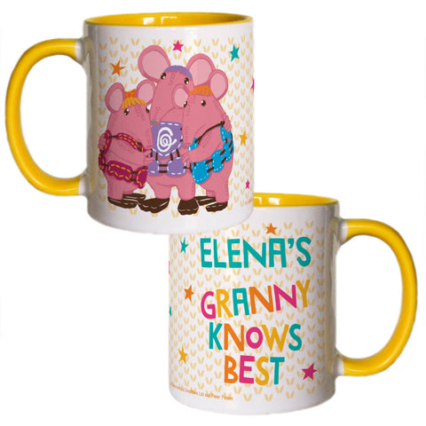 Granny Knows Best Clangers Personalised Coloured Insert Mug